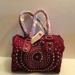 New Wine Studded Handbag